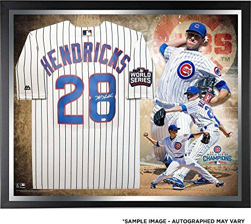 Cheap Kyle Hendricks Chicago Cubs 2016 MLB World Series Champions Framed Autographed Majestic White Replica World Series Jersey Collage - Fanatics Authentic Certified Father day sale