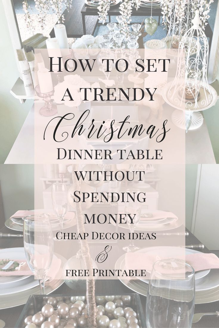 How to set a Trendy Christmas table without spending money