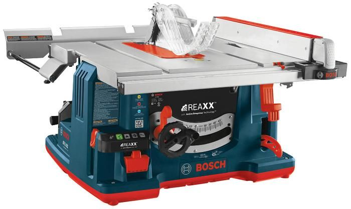 Bosch table saw stops when it detects a finger where wood should be.