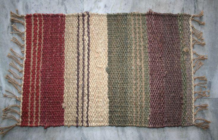 New Handmade Door Mat Jute Floor Mat Area Rug Handwoven Jute Door Mat 40x60cm #Unbranded