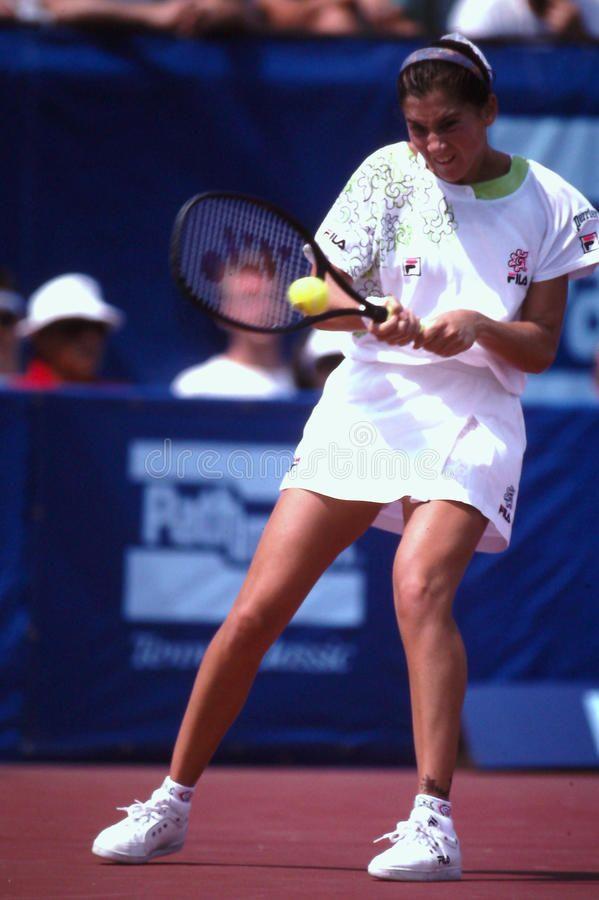 Monica Seles Former Professional Tennis Star Monica Seles Image Taken From Co Sponsored Professional Tennis Monic In 2020 Monica Seles Tennis Stars Athlete
