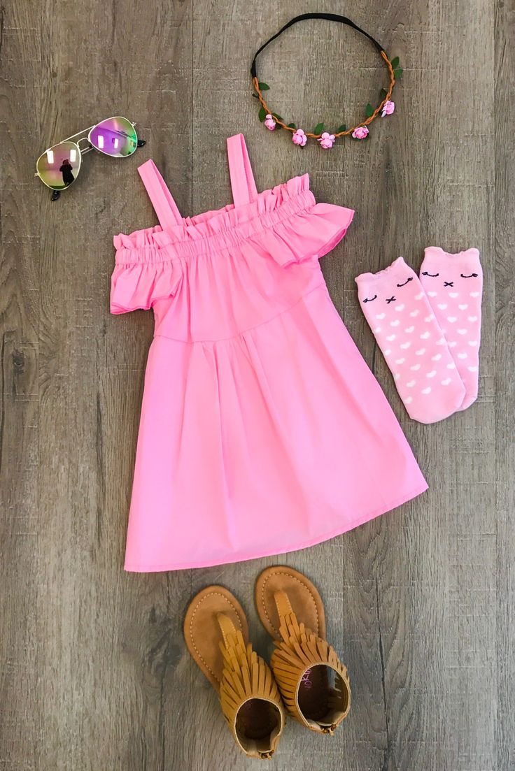 Light Pink Off-Shoulder Dress