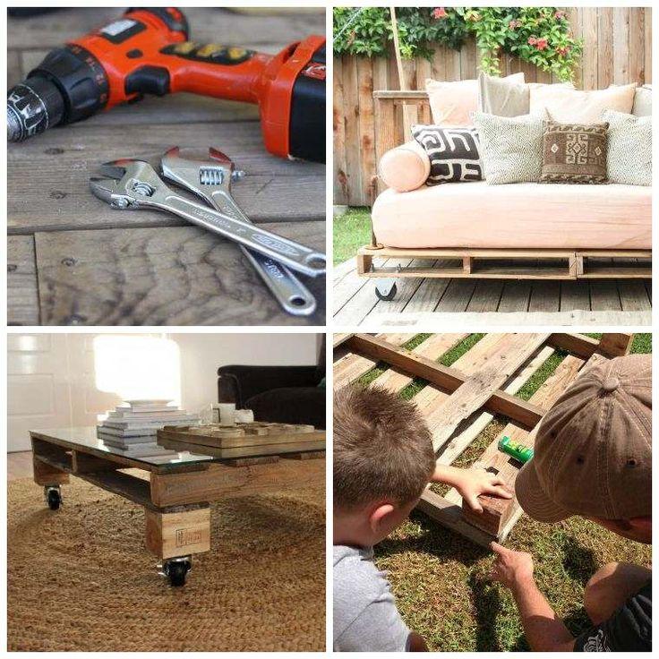 fabriquer salon de jardin en palette de bois tuto canap et table basse faciles - Table De Salon En Palette De Bois