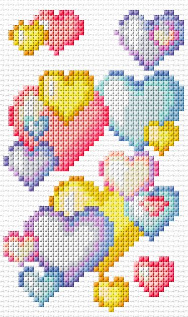 Cross Stitch Mania: Free Heart Cross Stitch Charts