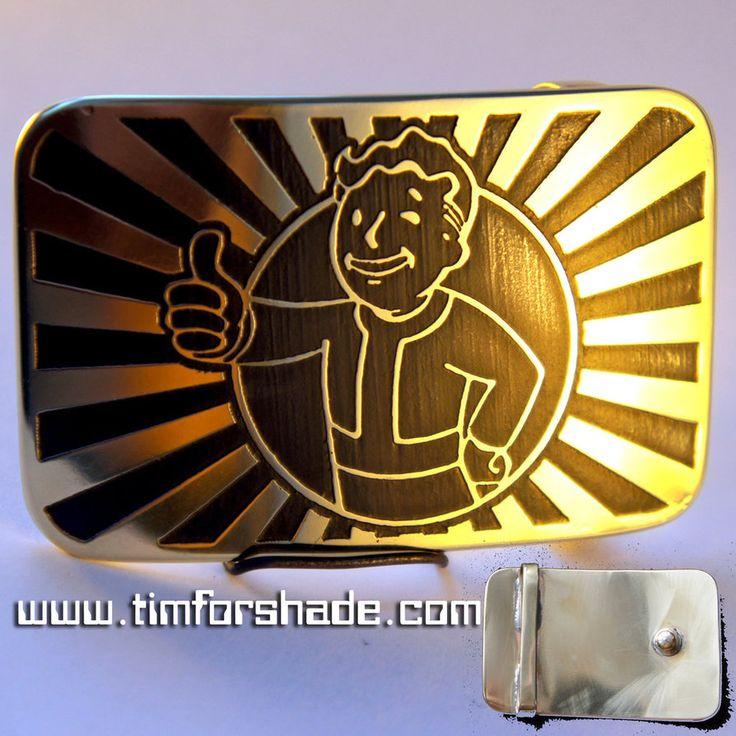 Fallout Vault-boy belt buckle by TimforShade on DeviantArt