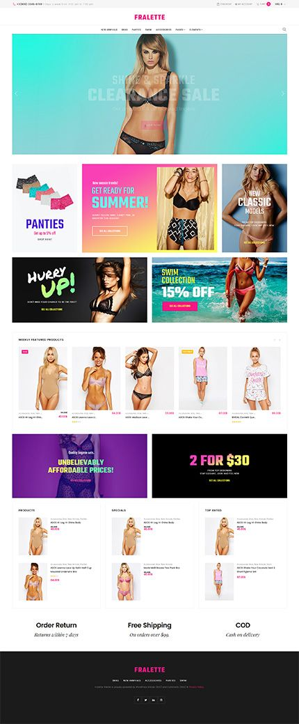 Sexy Lingerie Online Store #WooCommerce #template. #themes #business #responsive #WooCommercethemes