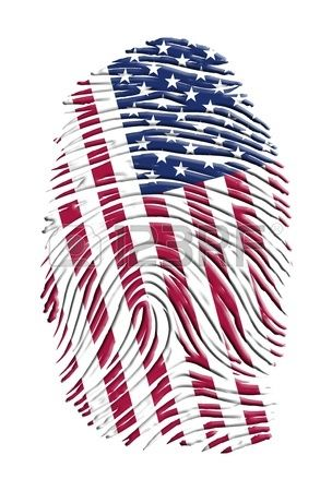 Bandera Americana: 100 Americano Hecho - Bordado