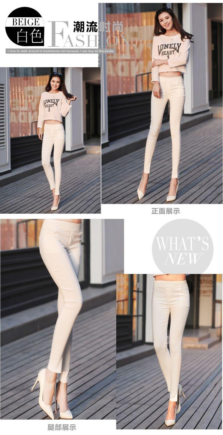 Прямая поставка стрейч мода женский конфеты цветной карандаш женские брюки сексуальный эластичность хлопок тонкий OL брюки леггинсы купить на AliExpress