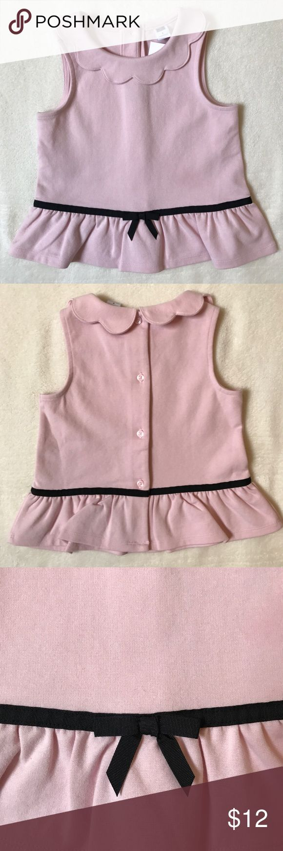 NWT Janie and Jack Pink Peplum Top Channel Audrey Hepburn in this classically adorable blush pink Peplum Top. Scalloped neck detail. Brand new with tags. Size 3T. Janie and Jack Shirts & Tops Blouses