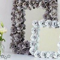 marcos para espejos con cartones de huevos reciclados