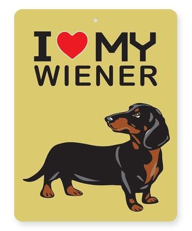 This yellow dachshund wall sign is perfect zulilyfinds
