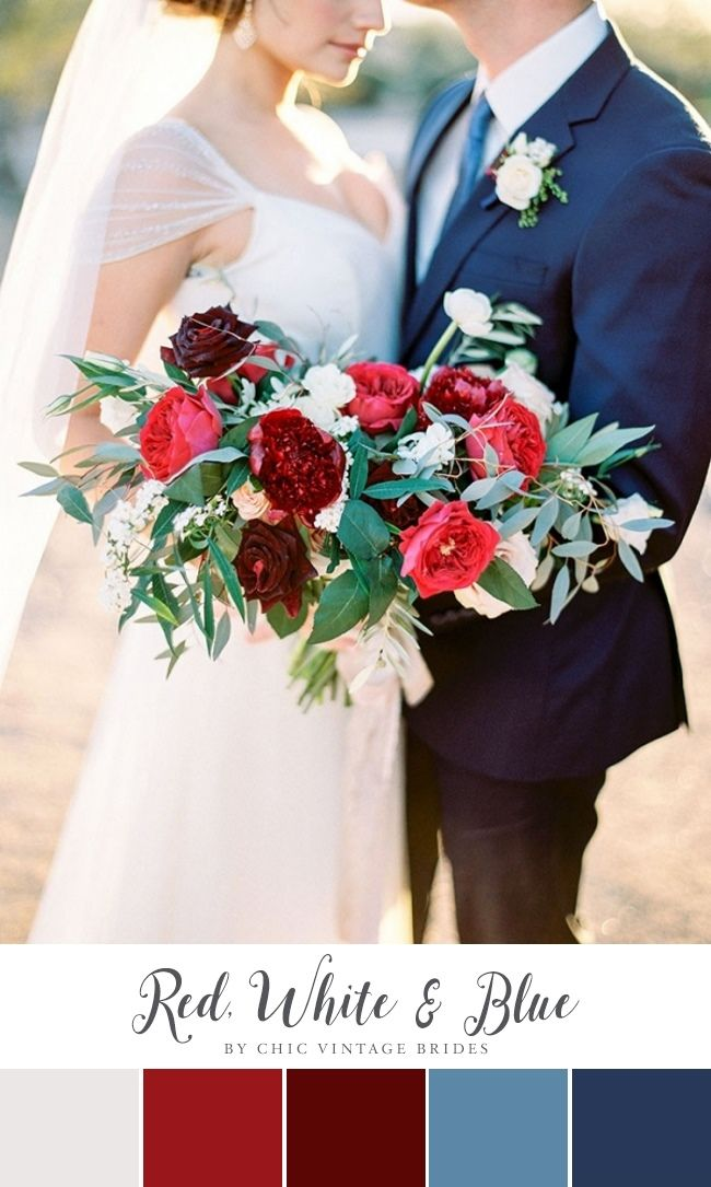 Red White & Blue Wedding Colour Palette