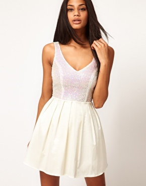 Enlarge ASOS Prom Dress with Sequin Top @Rosemary Woods