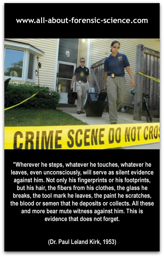 the role of forensic science in the criminal investigation Sometimes forensic science itself is offered as a criminal justice specialization, although in such cases the program tends to emphasize breadth of forensic understanding, whereas standalone forensic science degrees tend to emphasize lab science related to evidence.