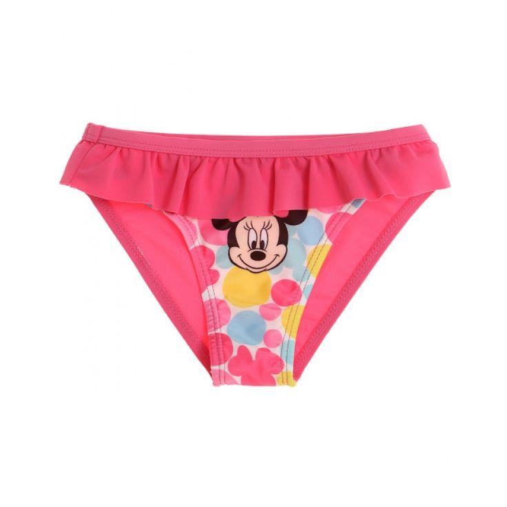 Slip de baie Disney Minnie roz fuchsia