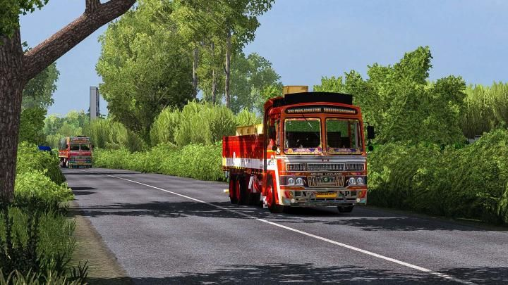 Ets2 Indian Ashok Leyland Lorry Traffic Beta 1 34 X Ashok