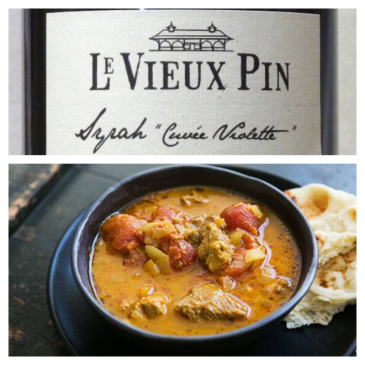 A Wine & Food Pairing from Alex (our Wine Club Manager & Tasting Room Supervisor): Wine - Syrah Cuvée Violette Food - Indian Lamb Korma $29 (sold out) - http://www.levieuxpin.ca/product/rouge/2012-syrah-cuvee-violette/