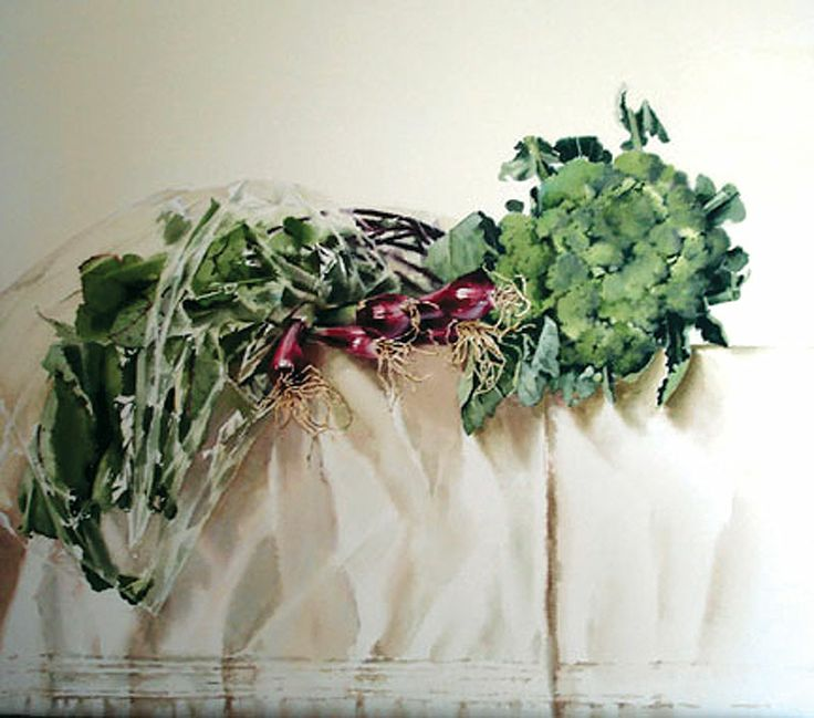 Broccoli Arrangement / Stephanie Anderson /  19x18_28x28FR