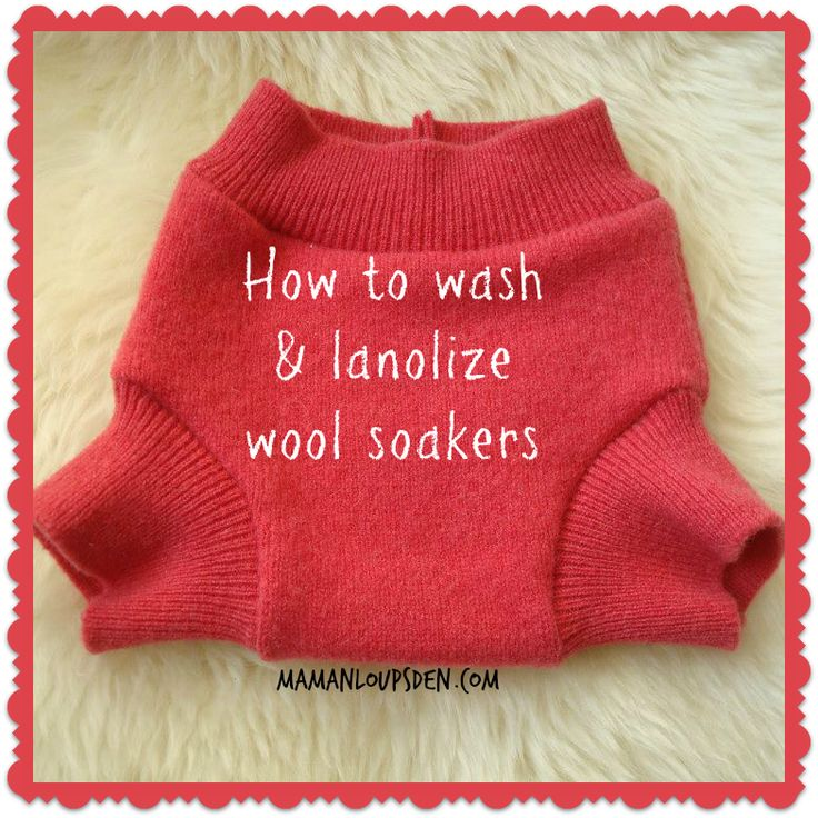 How to wash and lanolize wool soakers. It's easy with just some lanolin and baby soap or wool wash. Check it out!