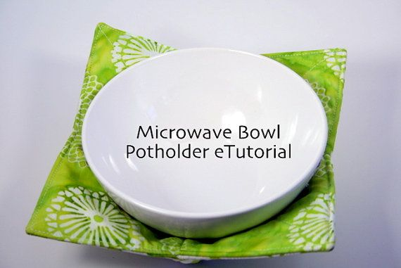 Kitchen Quilted Microwave Bowl Potholder by HandmadeBits4u on Etsy