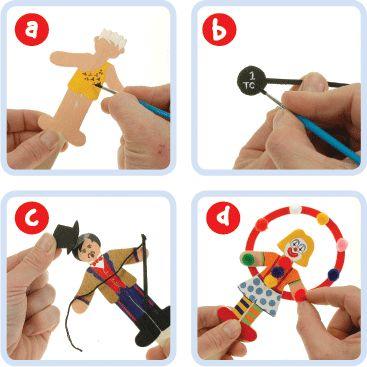 Circus Character Bookmark   Craft Ideas at Patticrafts