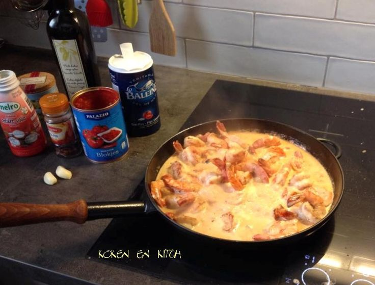 Koken en Kitch: Scampi in een lekker sausje!