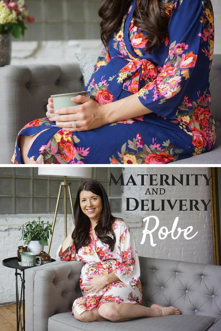 Floral maternity & delivery robe. So much prettier than those hospital gowns #maternity #gown #robe #delivery #pregnany #etsy #ad #baby