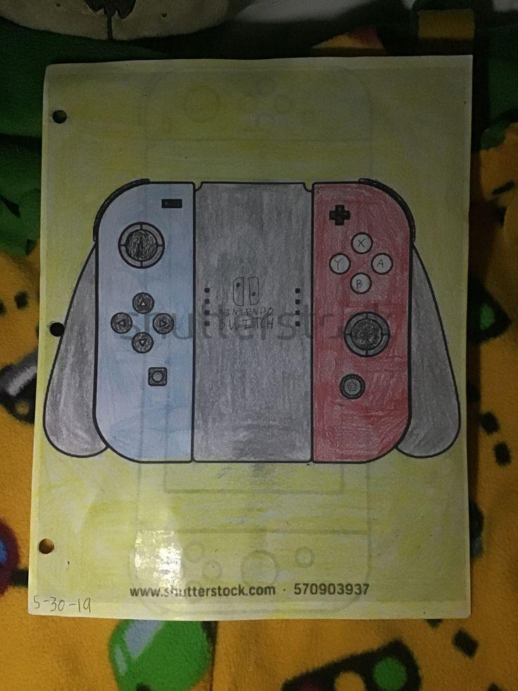 Nintendo Switch Joycons in Grip Coloring Sheet 53019