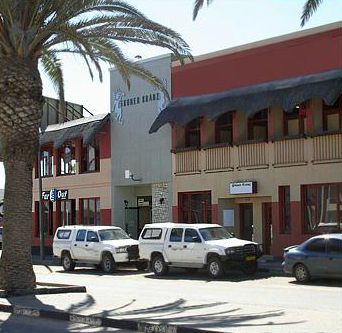 #Swakopmund, #Namibia – Hotel Gruner Krantz In the heart of Swakopmund CBD. With private rooms and en-suite dorms the Gruner Kranz is one of the best value for money options in Swakopmund. 2 bars and a restaurant -  a popular haunt for the locals and great spot to meet up with friends and other travellers. #HotelGrunerKrantz a great base for #skydiving and #sandboarding over and in the #NamibianDesert