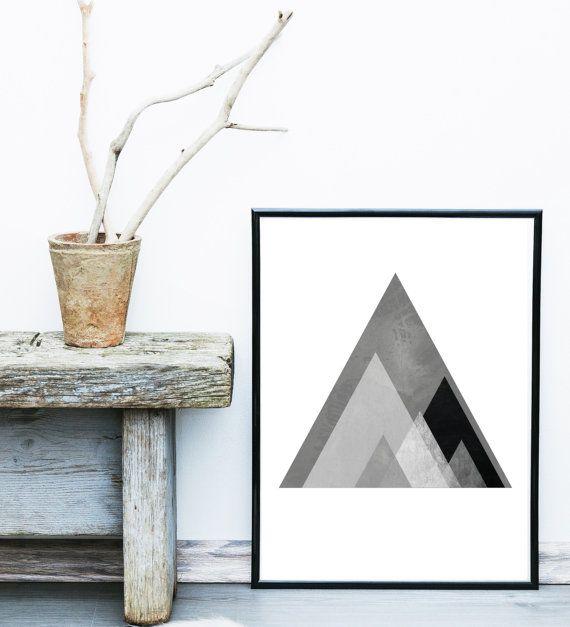 Abstract Art Print Printable Art Geometric Print by exileprints