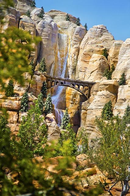 Disney California Adventure — Radiator Springs' Firewall Falls. Great shot!