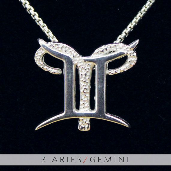 3 Aries and Gemini Silver Unity Pendant by UnityDesignConcepts, $59.99