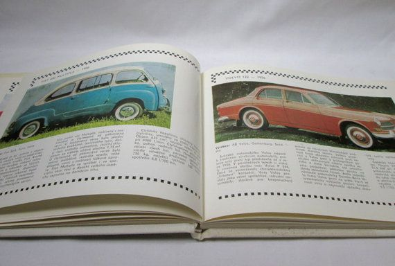 Vintage Auto Book Automobily 1941 / 1965 ~ Czech NADAS Cool Cars Library ~ Automobile Hard Cover Decor Reference Edition  ~ First Edition 1983 ~ Condition: Good. See Photos. ~ Measures: 8 1/2 x 6 3/4 189 Pages  This is an original and not a reprint. Original dust jacket. I believe this is written in Czechoslovakian, but the photo and pictures of all the cars tell their own story. Many of the cars you have heard of; many of them you have not. The Glas 1304, Syrena 103, and the Bristol 405…