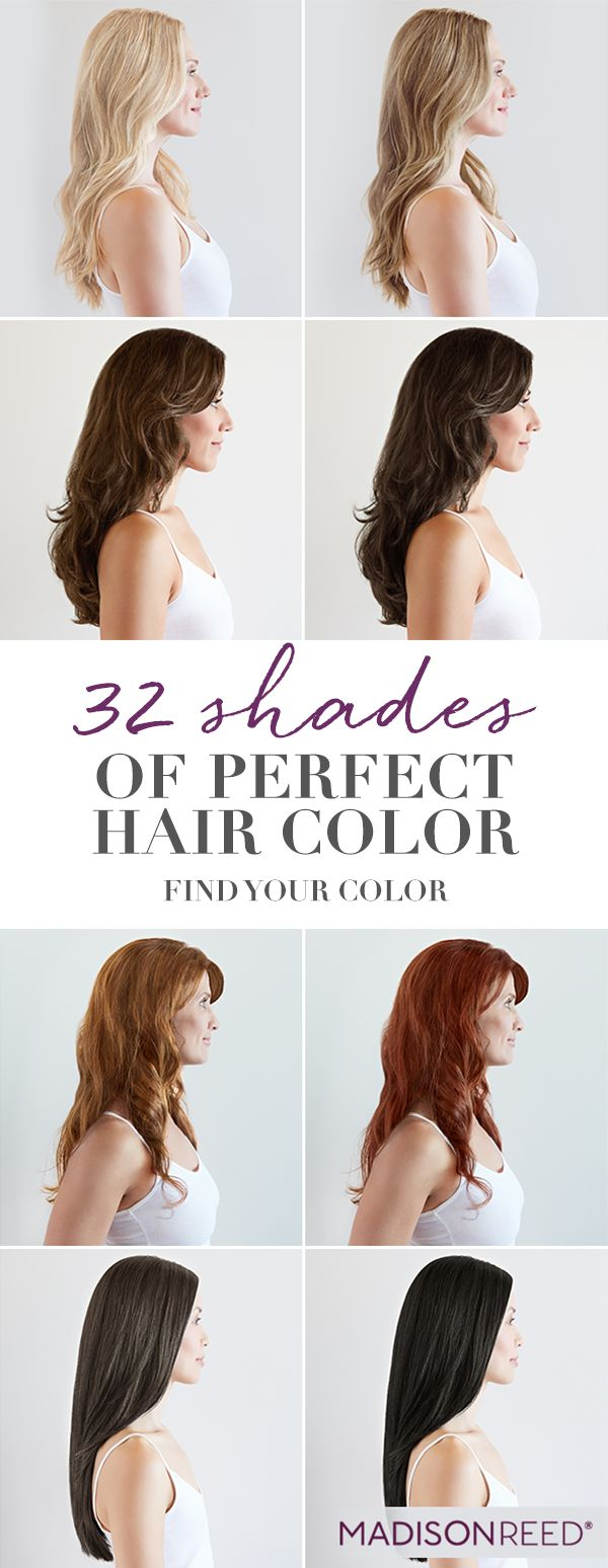 MEET YOUR MATCH One size does not fit all when it comes to hair color. Take our Color Quiz at madison-reed.com to find your perfect shade.