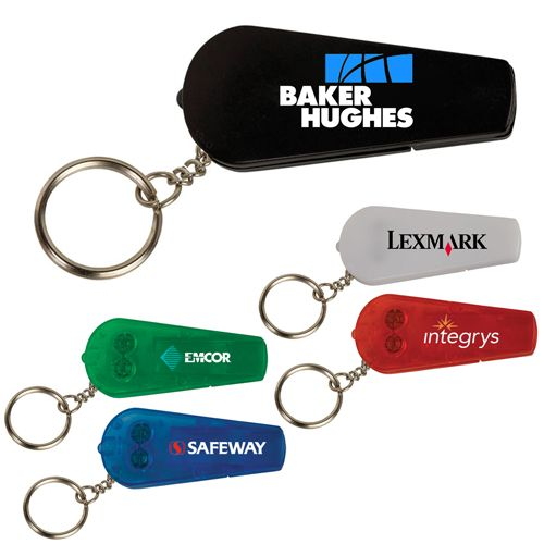 You can draw attention to your campaign by handing out these personalized whistle key tag lights at the earliest. Try Now!   #KeyTagFlashlights #Promotion