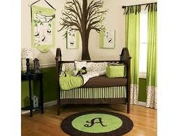 green modern baby room: Green And Brown, Boys Nurseries, Baby Beds, Boys Rooms, Baby Boys, Colors Schemes, Baby Rooms, Nurseries Ideas, Baby Nurseries