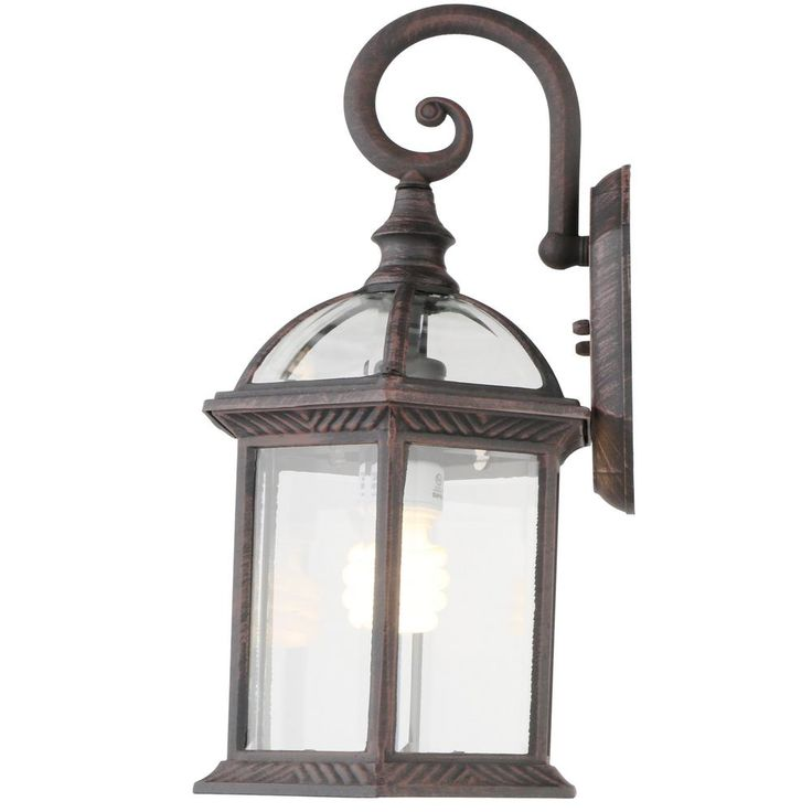 Hampton Bay Twin Pack 1-Light Weathered Bronze Outdoor Lantern    EXTERIOR LIGHTING