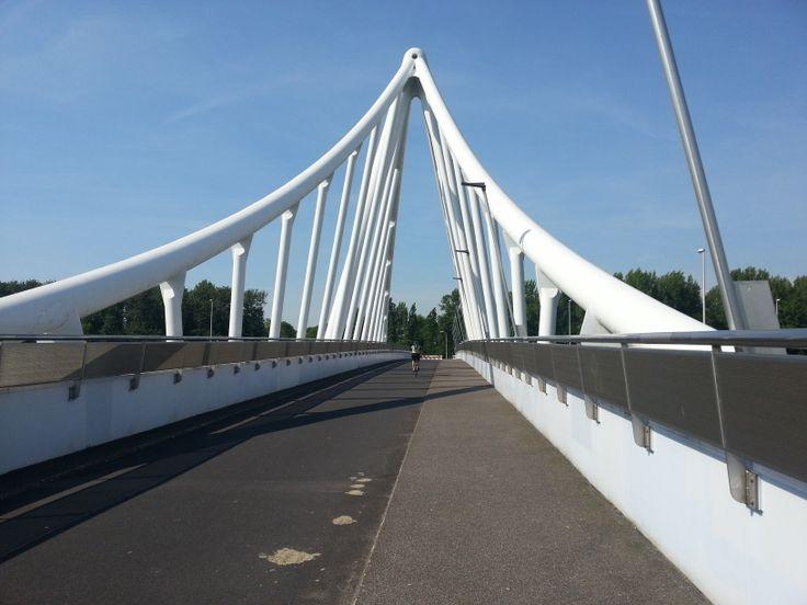 Balijbrug. Fietsbrug over de A12