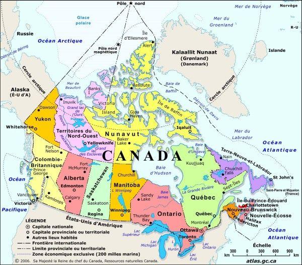 atlas du Canada, grande quantité de cartes à télécharger