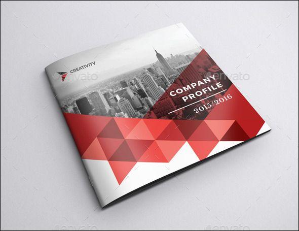 Company Profile Square Brochure Indesign Brochure Templates Free Brochure Template Brochure Design Template