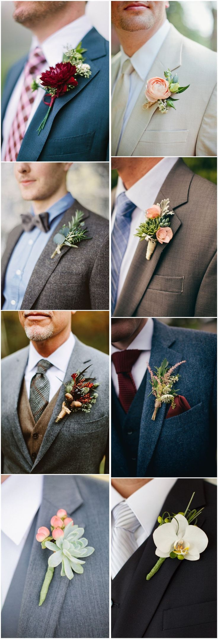 Wedding Ideas » Wedding Boutonniere » 23 Wedding Boutonniere Ideas You Cannot Resist! ❤️See more: