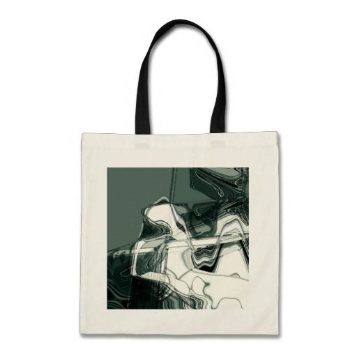 Land Formations Abstract Art Budget Tote Bag. With a slim, fashionable design, and colored handles, this tote is environmentally friendly and truly is a great value! #fomadesign