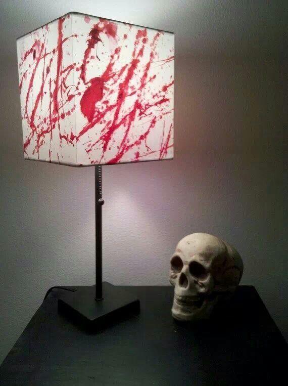 209 best spooky lighting images on pinterest chandeliers holidays blood splatter lamp aloadofball Images