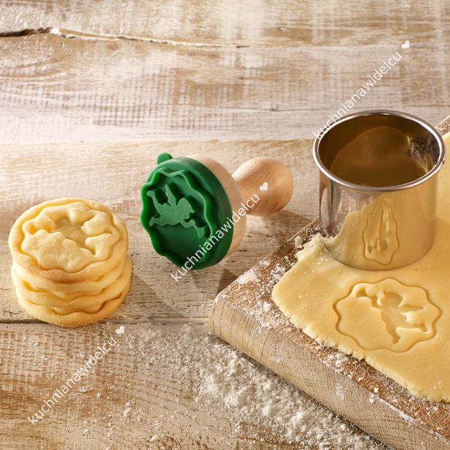 Stempel drewniany do ciastek - aniołek  | BIRKMANN