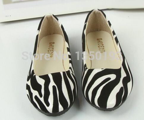 shiping libre 2014 apartamento nuevo patrón de cebra zapatos de las mujeres de moda casual zapatos de mujer zapatos planos de la mujer casual zapatos planos