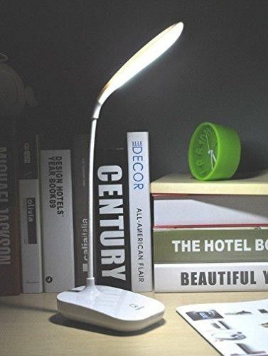 Dimmable LED Desk Lamp Work Light, RTSU® Flexible Gooseneck Rechargeable Book Light Reading Light, Portable Nightlight for Kid, Baby Nursery Night Light Table Lamp, Touch Control Bedside Lamp   360 Degree Arbitrary Adjustment Gooseneck for Any Lighting Angles. - Rechargeable, Wireless & Portable - Flexible Power Supplies: PC, Power Bank, Mobile Adapter, etc. - Compact One-key Design Touch Control, Full Range Stepless Dimmer & Last Setting Memory - Eye-caring, no ghosting, anti-glaring...