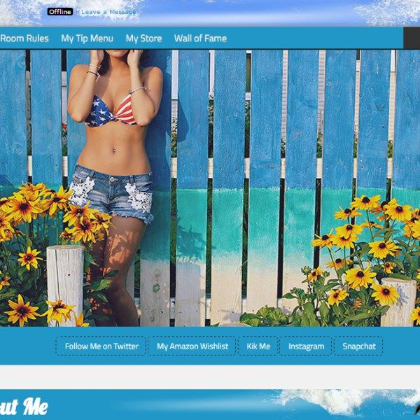 Custom #MyFreeCams profile design Summer Beach Vacation by our collaborator @camgirlmedia <- twitter