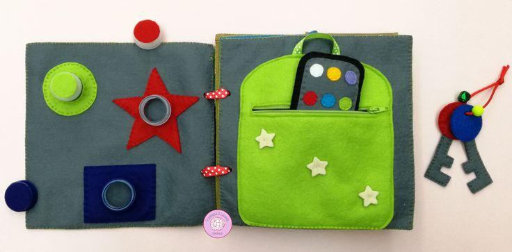 #libro #sensorial #actividades #bebe #infantil #juegos #juguetes #baby #handmade #hechoamano #telas #fabrics #fieltro #tapones #mochila