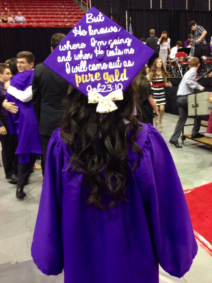 Job 23:10. Port Neches-Groves High School Class of 2014. Cap by Kristine Nguyen.