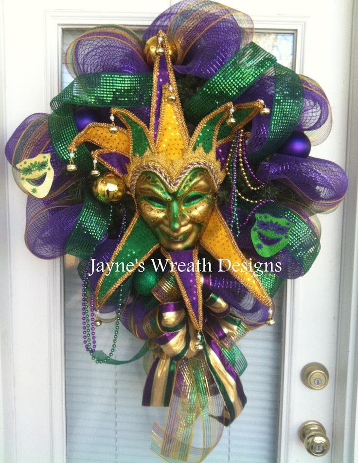 Jester Mardi Gras wreath